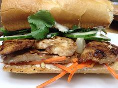 Eating Dinner With My Family: Spicy Vietnamese Chicken Sandwich