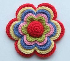 How to Crochet Beautiful Multi Layered Flower Pattern | www.FabArtDIY.com