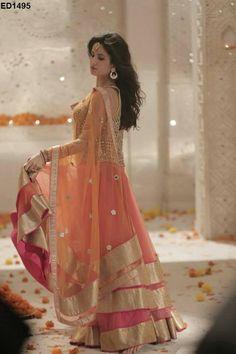 Khantil Katrina Kaif Orange Lehenga Choli|Lehenga Choli|Ethnic Wear