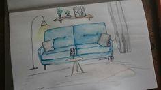 Heute eine Illustration, das perfekt zur Stimmung passt. Ich und Sunny machen heute Couchübungen. #illustration #watercolourillustration #wasserfarben #aquarell #aquarellzeichnung #design #faulersonntag #sonntag #sunday #cpuch #zeichnen #malen www.rauschsinnig.de