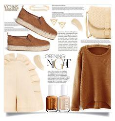 """yoins sweater"" by nata91 ❤ liked on Polyvore featuring Delpozo, Sam Edelman, Deux Lux, Essie, Ilia, women's clothing, women's fashion, women, female and woman"