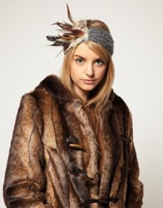$44.93 Feather Head Band. Fab.