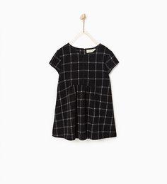 Image 2 of Jacquard check dress from Zara