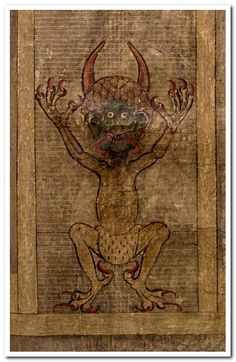 The Codex Gigas (English: Giant Book) is the largest extant medieval manuscript in the world. It is also known as the Devil's Bible because of a large illustration of the devil on the inside and the legend surrounding its creation. It is thought to have been created in the early 12th century in the Benedictine monastery of Podlažice in Bohemia (modern Czech Republic).