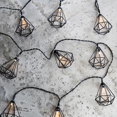 Items similar to 10 Black Diamond Cage Battery Operated Indoor LED String Lights on Etsy