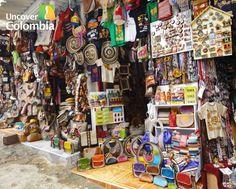 Handcirafts small market in Monserrate - Bogota, Colombia
