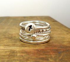 Set of Sterling Silver Stacker Rings