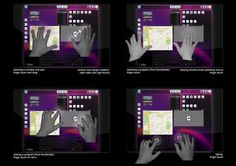 2010 Microsoft Surface Kiosk and GUI Development by Damian Pasternak, via Behance