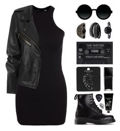 """""""Rocker Chic"""" by felytery ❤ liked on Polyvore featuring New Look, Moscot, Dr. Martens, TokyoMilk, Goody, Floyd, Topshop, Illamasqua, Cuero and Pieces"""