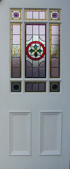 Origional and reproduction Victorian stained glass available at Steven Amin'stained glass studio in Monkseaton, Whitley Bay, Tyne & Wear Stained Glass Studio, Stained Glass Door, Stained Glass Panels, Stained Glass Projects, Stained Glass Patterns, Victorian Windows, Victorian Front Doors, Porch Gazebo, Front Porch