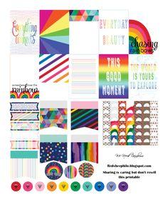 FREE We Need Rainbows Planner Sticker by RedSheep Prints