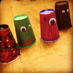 Paper cup monsters