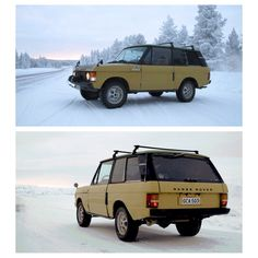 Harri Asunta recently bought an original #RoverRoverClassic-then drove is more than 500km across the snowy terrain of Northern Ivalo as part of his journey back home to Helsinki... (Photo & Story Courtesy of classicdriver.com) #landroverpalmbeach