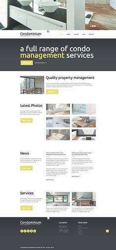 Template 49241 - Condominium Management  Responsive Website Template