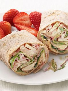Ham, Swiss and Apple Wraps recipe from Food Network Kitchen via Food Network