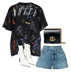 """""""Untitled #1956"""" by deamntr ❤ liked on Polyvore featuring GRLFRND, Off-White, Yang Li and Gucci"""