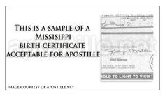 This is a sample of an oklahoma birth certificate acceptable for mississippi birth certificate for apostille yadclub Choice Image