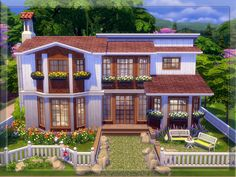 This hous is for your at-lover simmies :). This is a small house - It has only one bed room and a bathroom on the upstairs. There is a living room and a kitchen on the downstairs.- but it is a very...