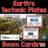 Earth's Tectonic Plates Task Cards - Distance Learning Dig