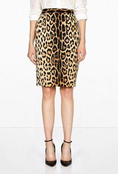#Moschino Cheap Ultimate Leopard Print Pencil Skirt