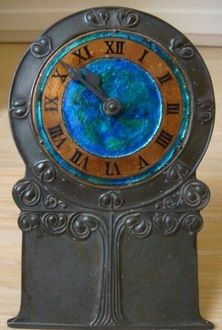 Archibal Knox   Pewter-enamel clock   Liberty & Co.