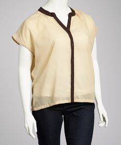 Take a look at this Mocha & Black Plus-Size Top by High Fashion on #zulily today!  $14.99, regular 30.00