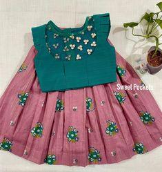Girls Frock Design, Baby Dress Design, Kids Frocks Design, Baby Frocks Designs, Long Frocks For Kids, Cotton Frocks For Kids, Baby Girl Lehenga, Kids Lehenga, Kids Dress Wear