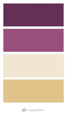 Eggplant, Mulberry, Champagne, and Gold Wedding Color Palette - custom color palette created at MagnetStreet.com