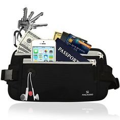 Pacasso Riñonera Interior de Viaje RFID--Cinturón de Dinero--Riñonera  deportiva- bbf2341d6d57
