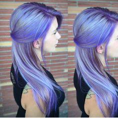 "Hot on Beauty no Instagram: ""Fab purple lavender and blue color melt by @hairbyliz__ Beautiful work Kiz! #hotonbeauty #purplehair #balayage #hairtalk #mermaidhair #pastelhair"""