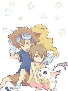 Tai and Kari kamiya - Digimon