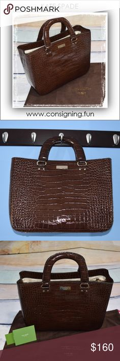 Remarkable Kate Spade Tote Not only is this Kate Spade Knightsbridge Jasper Tote a remarkable beauty, she features three interior compartments and interior side pockets for amazing functionality as well. She's crafted from embossed patent leather with a beautiful gold polka-dotted lining and gold toned hardware that brings her quality front and center. She will arrive to you tucked into her sweet dust bag. She is one of my all time faves and you will LOVE her! kate spade Bags Totes