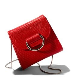 Little Liffner: Red Lizard Embossed Saddle Bag Bags Online Shopping, Online Bags, Malboro, Red Lizard, Minimalist Bag, Red Shoulder Bags, Red Handbag, Red Purses, Branded Bags
