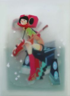 Music is Sinking by Perry Dixon Maple  Medium:Digital, acrylic, + resin