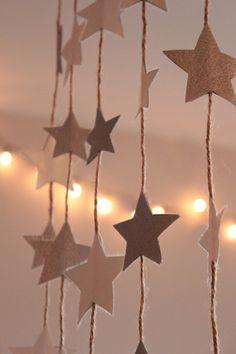 zilveren sterren slingers : KNUTSELDINGES
