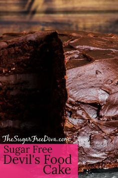 This recipe is for Devil's Food Cake that is Sugar Free! This recipe is for Devil's Food Cake that is Sugar Free! Diabetic Cake, Diabetic Desserts, Sugar Free Desserts, Sugar Free Recipes, Diabetic Recipes, Kidney Recipes, Ww Desserts, Healthy Desserts, Delicious Desserts