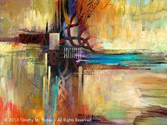 Arte abstracto fina lámina de arte  pintura por AbstractBrush, $29.00