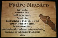 Padre Nuestro - The Lord's Prayer in Spanish Cutting Board, Personalized Cutting Board, Prayer Cutting Board by TopChopButcherBlock on Etsy