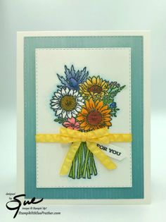 Stampin' Up! Jar of Flowers for Amy's Inkin' Krew Team Blog Hop | Stamp With Sue Prather Love Jar, Hand Stamped Cards, Flowers For You, Four Seasons, Stampin Up Cards, Birthday Cards, Card Making, Greeting Cards, Paper Crafts