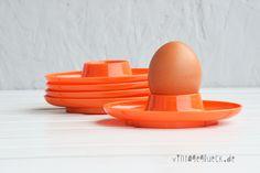 5 retro Eierbecher in Orange von    Vintage ♥ Glück  auf DaWanda.com