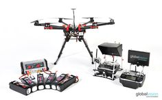 The innovative hexacopter drone #DJI S900 with foldable arms and spreading wings