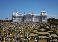 Wrapped Reichstag, Berlin, 1971-95, by artists Christo and Jeanne-Claude