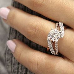Rond Luxe AAA Zircon 14K Gold Ring Femmes Fiançailles Fashion Jewelry Cadeaux