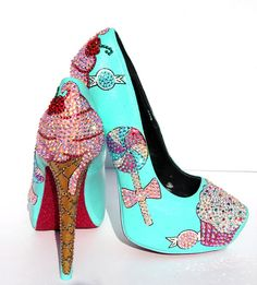 Cupcake and Ice Cream Heels with Swarovski by WickedAddiction