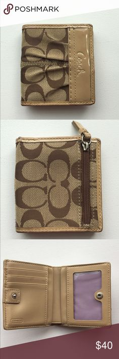 9dc3bdef192 Selling this Coach signature fabric wallet on Poshmark! My username is   ashang615.
