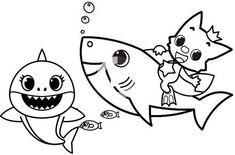 33 mejores imágenes de baby shark para colorear | Fiesta ...