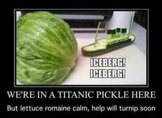 Funny pictures about Veggie Titanic. Oh, and cool pics about Veggie Titanic. Also, Veggie Titanic. Tumblr Puns, Smosh, Humor Grafico, Funny Pins, Funny Stuff, Funny Shit, Odd Stuff, Stupid Stuff, Have A Laugh
