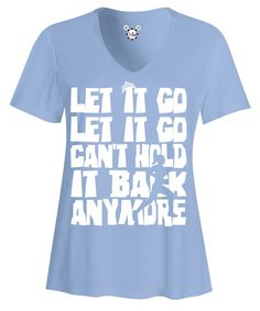 Rundisney Elsa Frozen Let It Go Women'S V-Neck Running Shirt