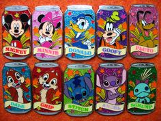 Disney pin sets | Disney-Pin-HKDL-limited-Soda-Can-Tin-10-Pin-Set-Tin