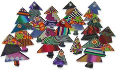 Patchwork polymer trees | Polymer Clay Daily